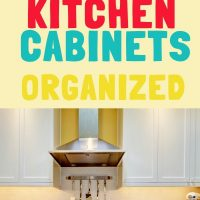 declutter and organize kitchen cabinets