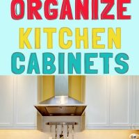 home organization for kitchen cabinets