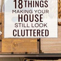 how to declutter for an organized home