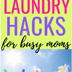Money Saving Laundry Tips for Frugal Busy Moms