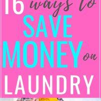 16 ways to save money on laundry
