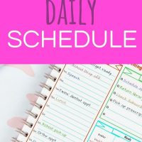 how to create a daily schedule