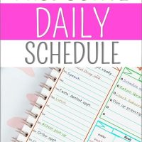 planner page from handling home life