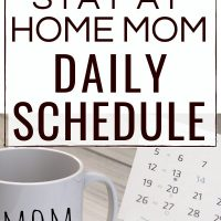 coffee mug that says mom and calendars on a table