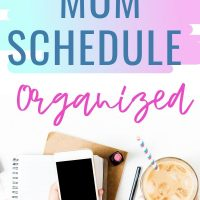 Organize a stay at home mom schedule