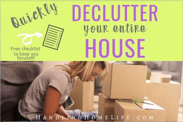 declutter each room of your house