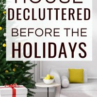 How to declutter your home room by room for a clutter free home before the holidays! #handlinghomelife
