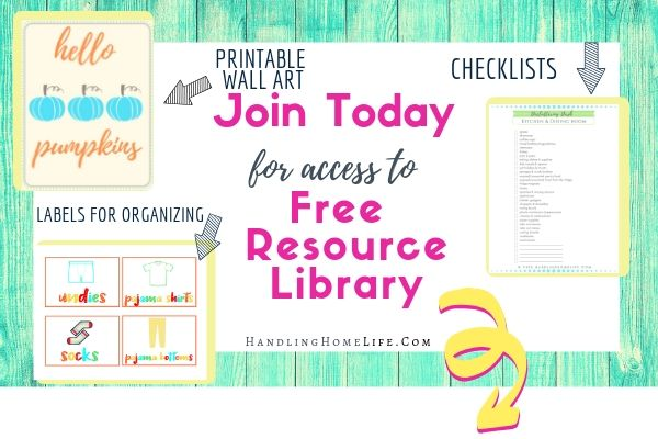 free resource library with printables for mom home management