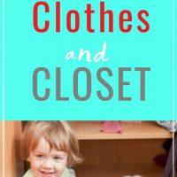 organizing kids clothing and closets