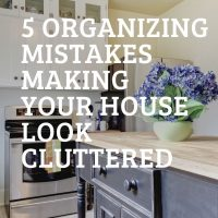 organized and decluttered home