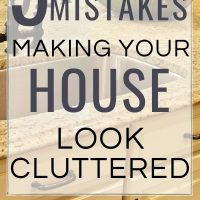 5 mistakes making your house look cluttered