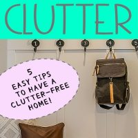 clutter free and organized home