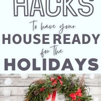christmas wreath with red decor