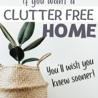 clutter free simple home