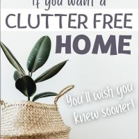 Clutter free house tips