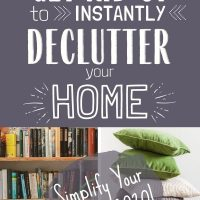declutter and simplify your home