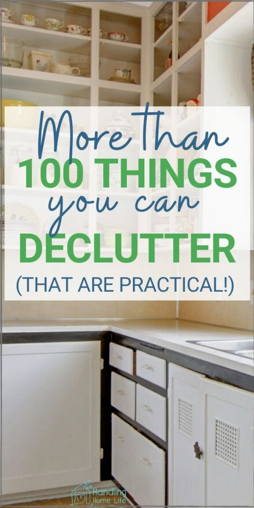 Things to declutter from your kitchen