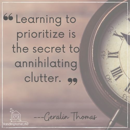 clearing clutter from your life