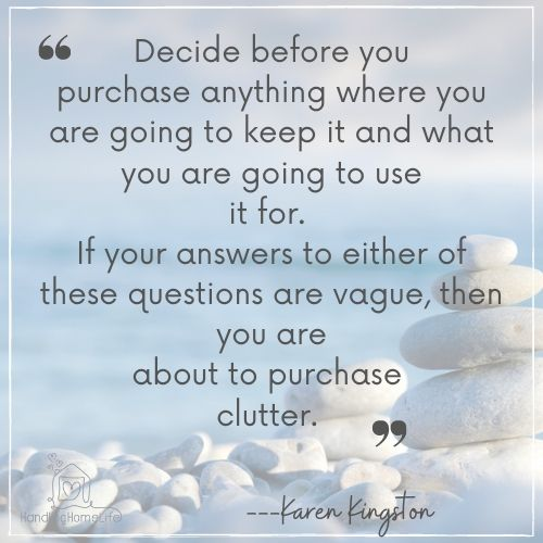 inspiration to clear clutter