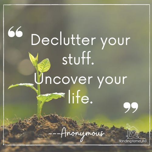 Declutter your stuff
