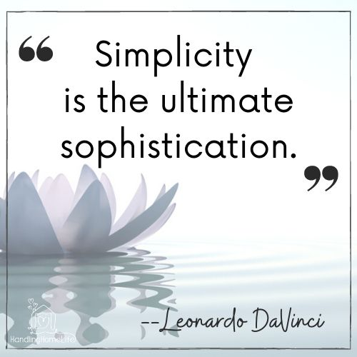 simplicity and decluttering