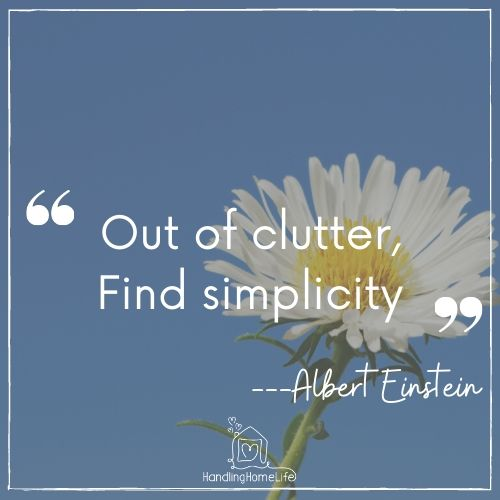 inspiration to clear the clutter