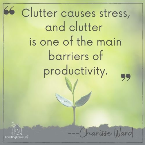 Declutter to reduce stress