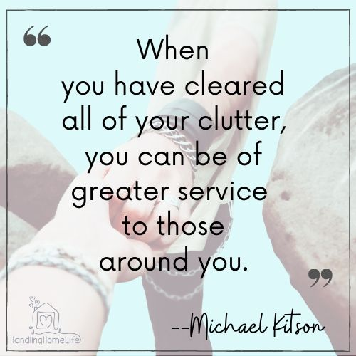 quotes about decluttering