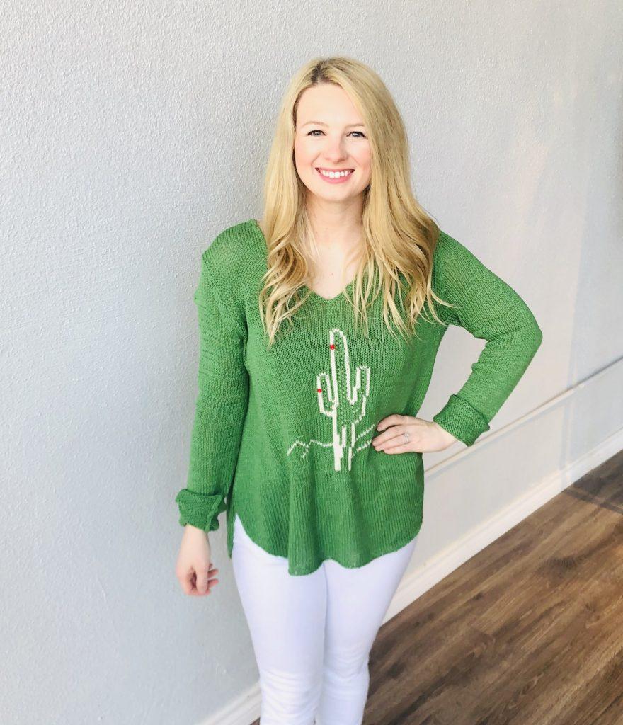 comfy cactus sweater