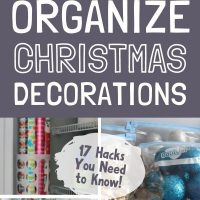 ideas for organizing christmas decorations